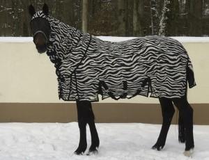Fliegendecke Zebra waagrecht